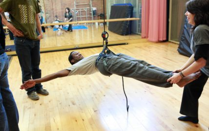 Image of Aerial training on ropes.