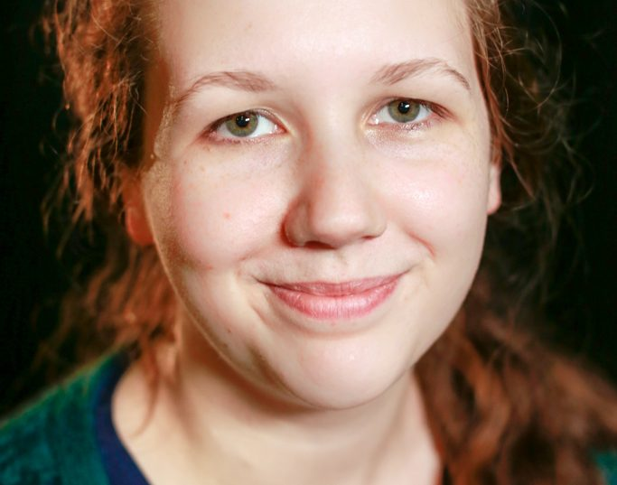 Head shot of Rebekah Bowsher looking straight into camera