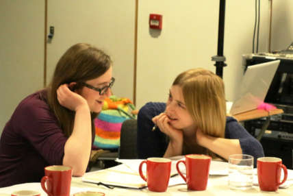 Image of two participants in conversation
