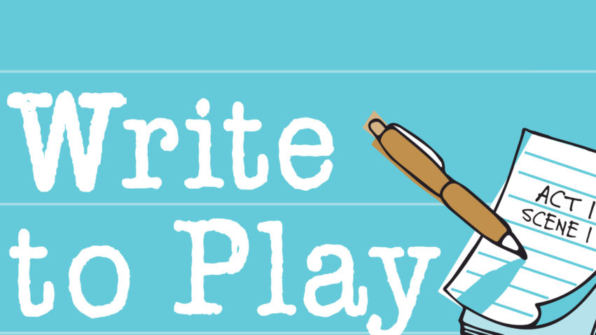 Write to Play image with a notepad and pen
