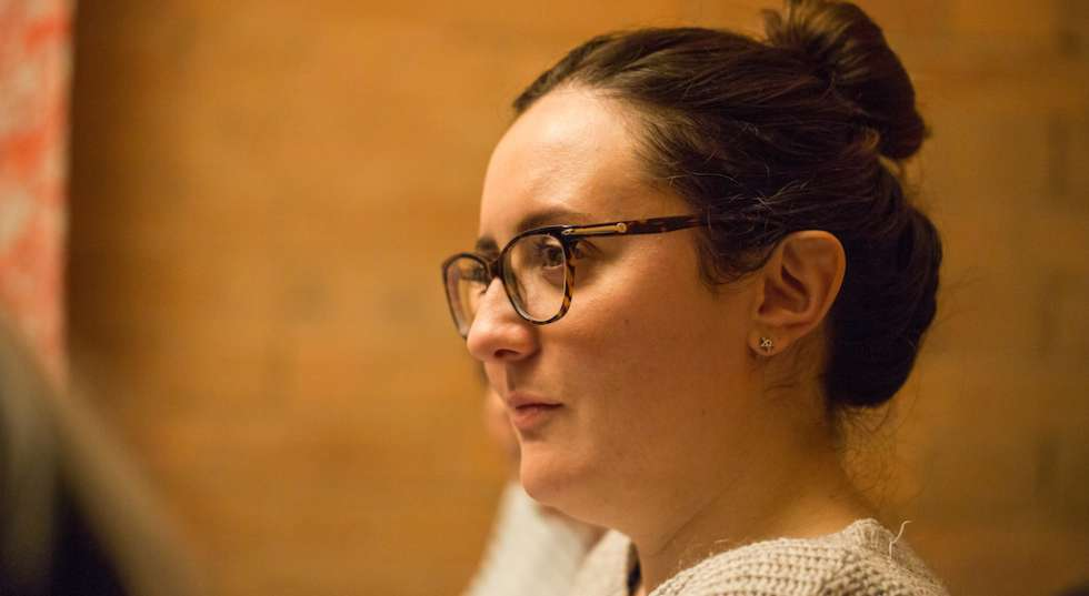 A photo of Philippa Cole in rehearsals