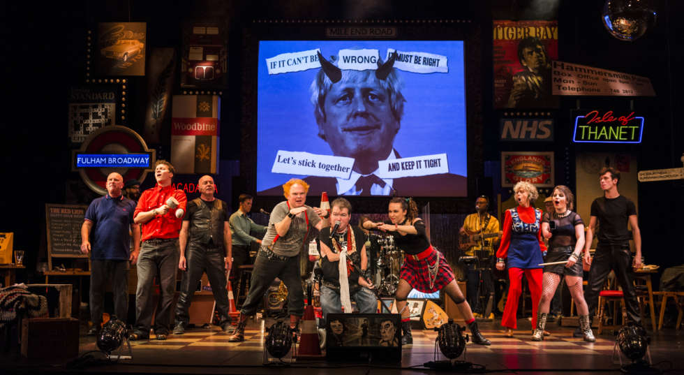 """Graeae Theatre Company. """"Reasons To Be Cheerful"""" cast"""