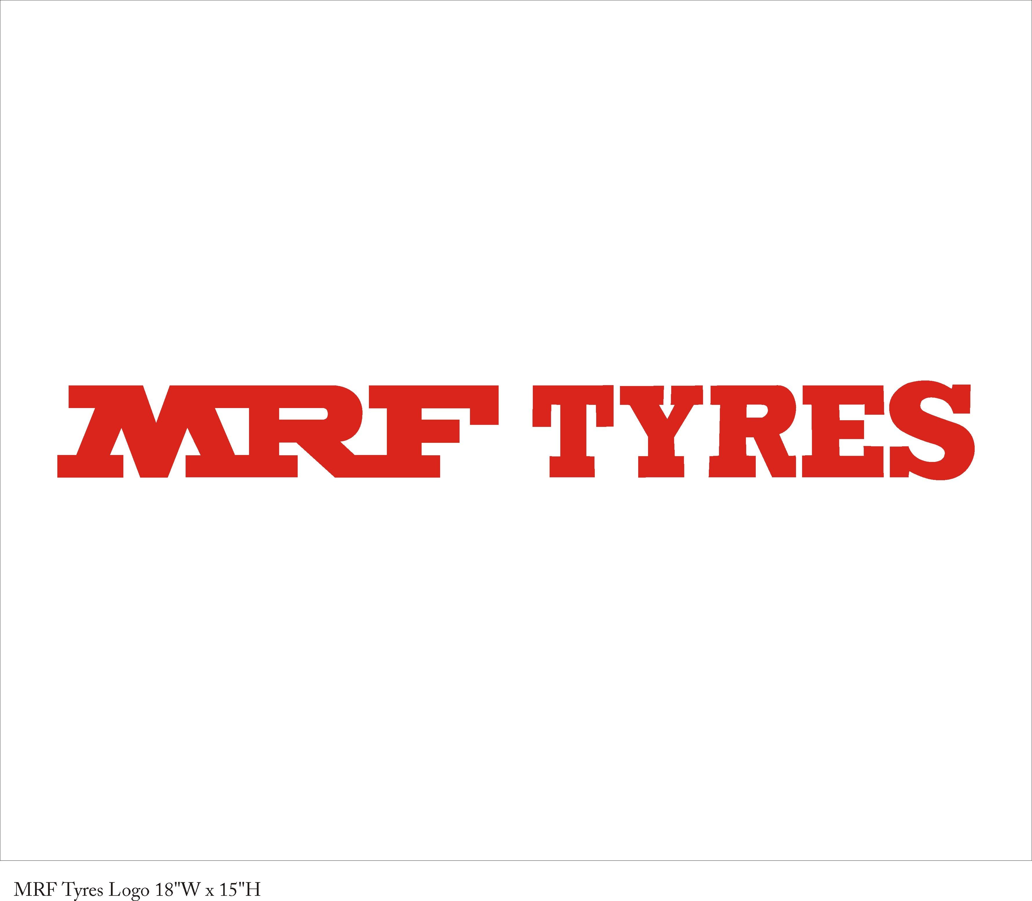 MRF tyres logo 2 -18 x 15 in
