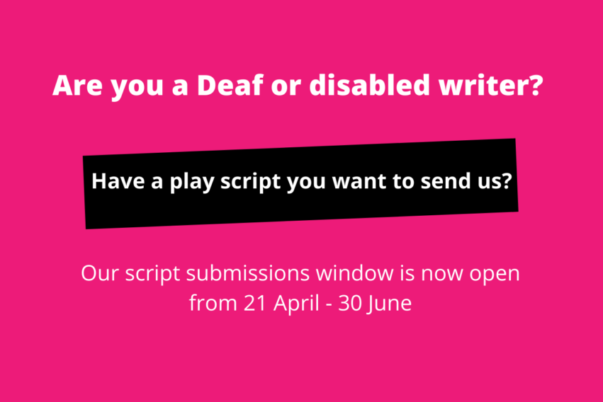 Our script submissions window is now open